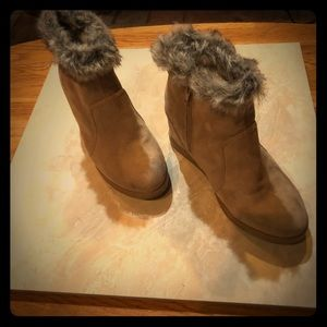 JustFab Faux Fur lined booties
